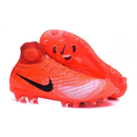 2016 Nike Magista Obra II FG Soccer Cleats For Men Orange Black