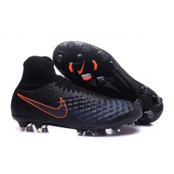 2016 Nike Magista Obra II FG Soccer Cleats For Men Black Total Crimson