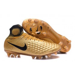 2016 Nike Magista Obra II FG Soccer Cleats For Men Black Gold