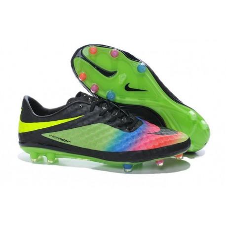Nike Hypervenom Phantom FG Soccer Cleats - Men's Shoes Neymar Premium Black Green Pink Blue Volt