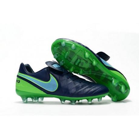 New Cleats Nike Tiempo Legend VI FG Football Boots For Men Coastal Blue Polarized Blue Rage Green