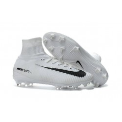 Cleats 2016 - Shoes Nike Mercurial Superfly V FG White Black