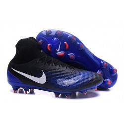 2016 Nike Magista Obra II FG Soccer Cleats For Men Black Blue White