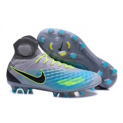 2016 Nike Magista Obra II FG Soccer Cleats For Men Pure Platinum Black Ghost Green