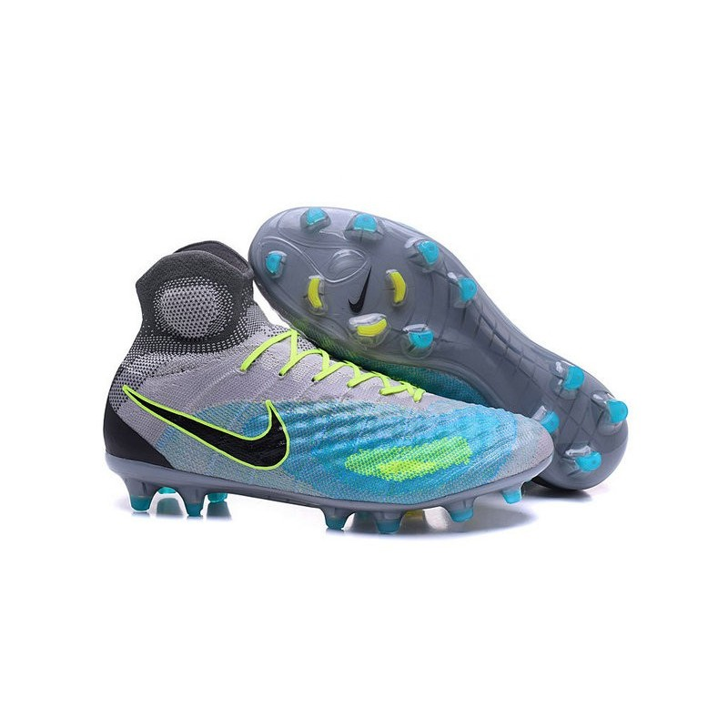 Nike magista obra royal ii fg football fluorescent verde royal obra blu nero 67df52
