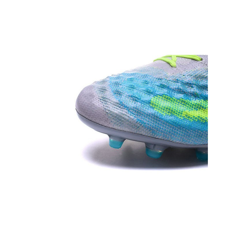 online store 3d384 c55d9 2016 Nike Magista Obra II FG Soccer Cleats For Men Pure Platinum Black  Ghost Green
