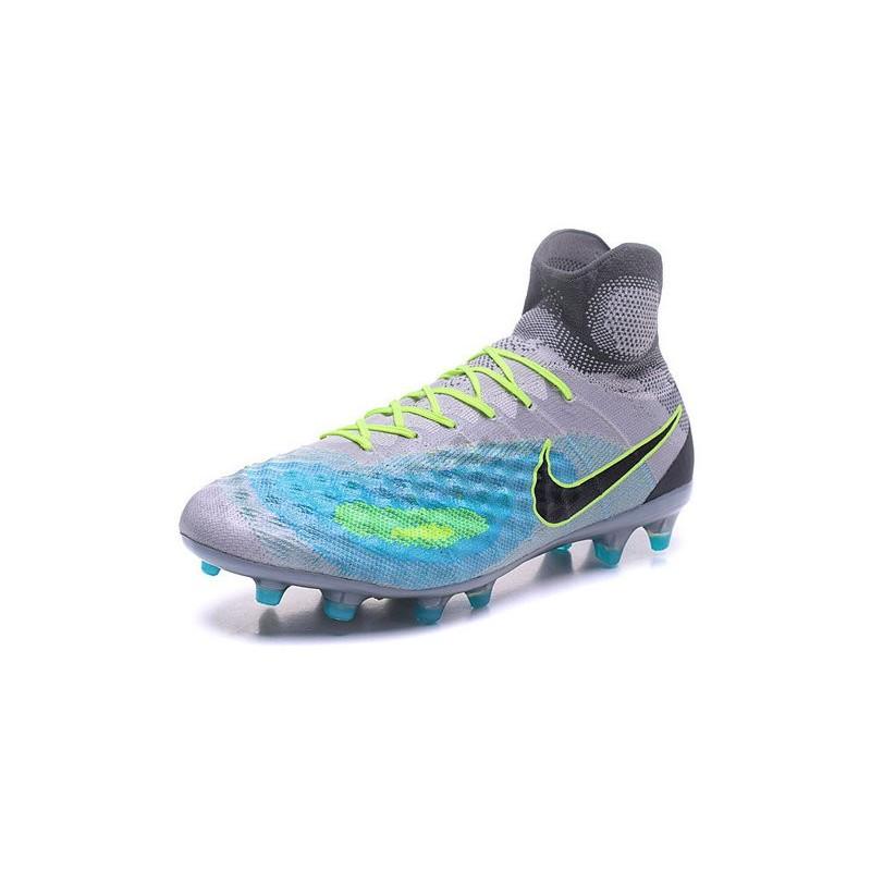 43c43596580f 2016 Nike Magista Obra II FG Soccer Cleats For Men Pure Platinum Black  Ghost Green