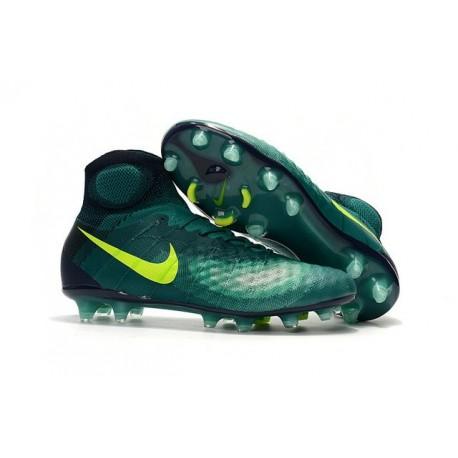 2016 Nike Magista Obra II FG Soccer Cleats For Men Rio Teal Volt Obsidian Clear Jade