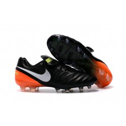 2016 Latest Nike Shoes - Nike Tiempo Legend 6 FG Football Shoes Black White Hyper Orange Volt