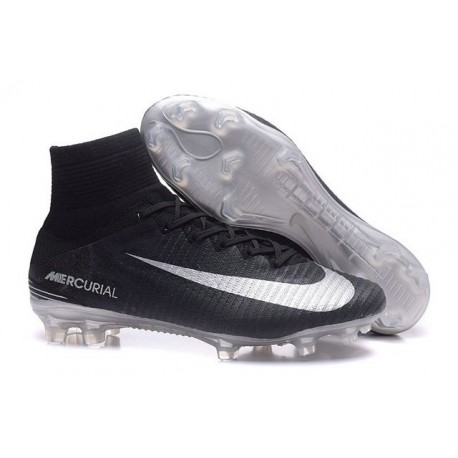 New Soccer Cleats - New Nike Mercurial Superfly 5 FG Black Silver