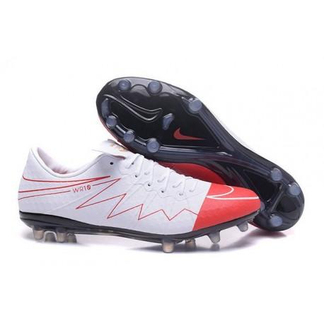 2016 Nike Men's Hypervenom Phinish II FG Soccer Boots - Wayne Rooney White Red Black