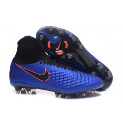 2016 Best Nike Magista Obra II Soccer Shoes Blue Black Orange