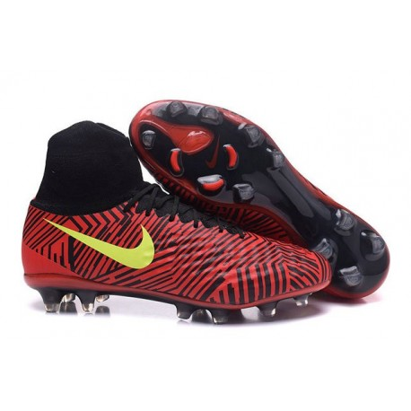 Nike Magista Obra 2 Men's Nike Football Cleats Black Red Yellow