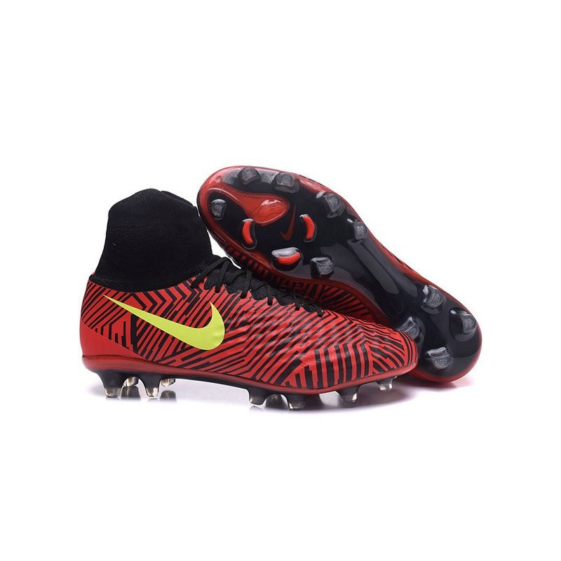Nike Football Cleats Black Red Yellow