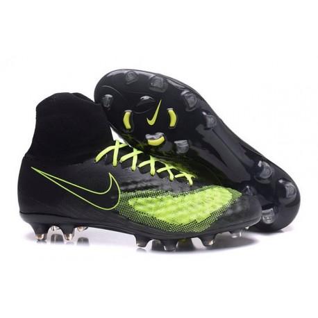 2016 Best Nike Magista Obra II Soccer Shoes Black Volt