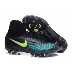 2016 Best Nike Magista Obra II Soccer Shoes Black Blue Green
