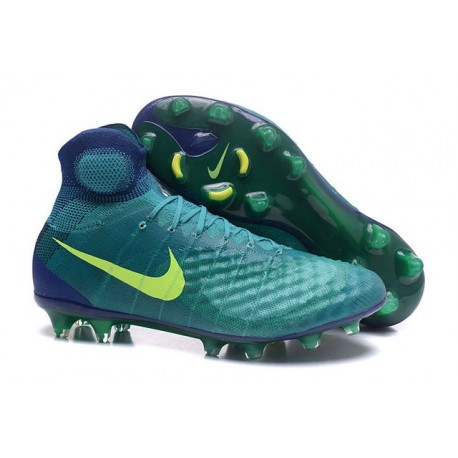 2016 Best Nike Magista Obra II Soccer Shoes Rio Teal Volt Obsidian Clear Jade