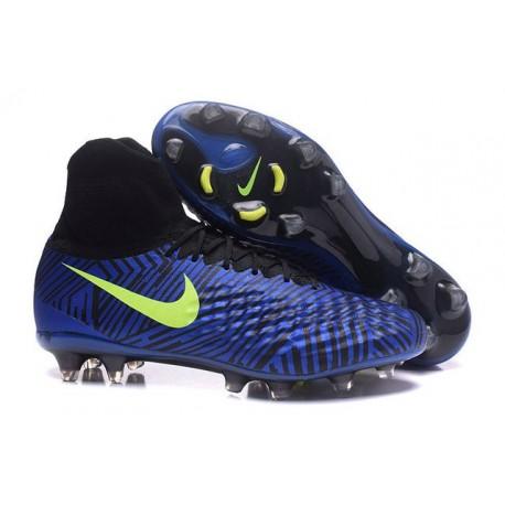 2016 Best Nike Magista Obra II Soccer Shoes Blue Black Volt