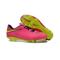 New Nike Men's Hypervenom Phantom FG Football Cleats - Pink Volt Black