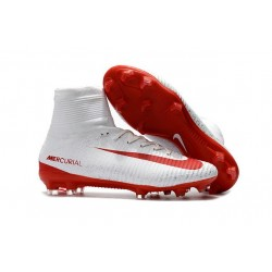 New Soccer Cleats - New Nike Mercurial Superfly 5 FG White Red