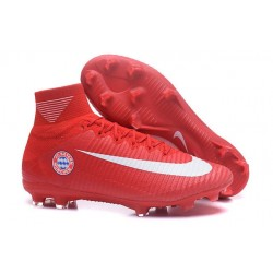 Cleats 2016 - Shoes Nike Mercurial Superfly V FG FC Bayern München Red White