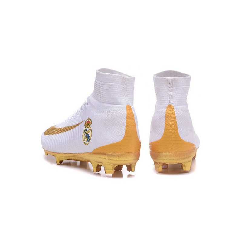 d133dd1d3294 New Soccer Cleats - New Nike Mercurial Superfly 5 FG Real Madrid FC White  Gold