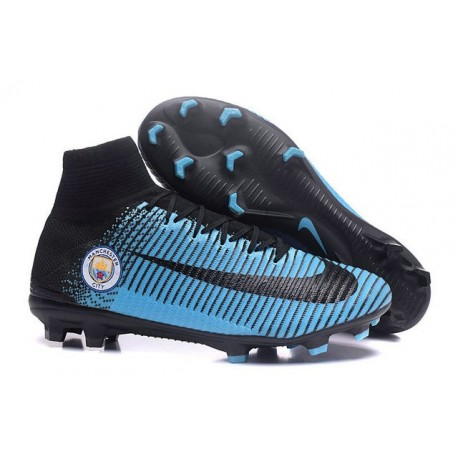 New Soccer Cleats - New Nike Mercurial Superfly 5 FG Manchester City FC Black Blue