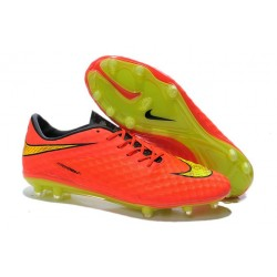 Nike Hypervenom Phantom FG Soccer Cleats - Men's Shoes FIFA World Cup Brazil Crimson Volt Hyper Punch Mtlc
