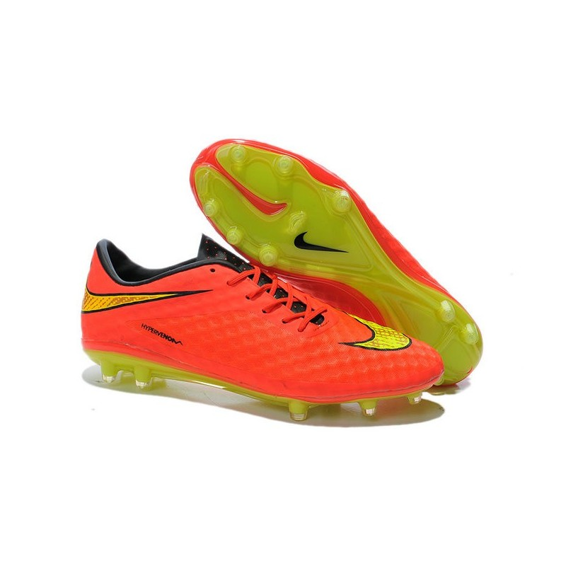 Nike Hypervenom Phantom FG Soccer Cleats - Men\u0027s Shoes FIFA World Cup  Brazil Crimson Volt Hyper Punch Mtlc