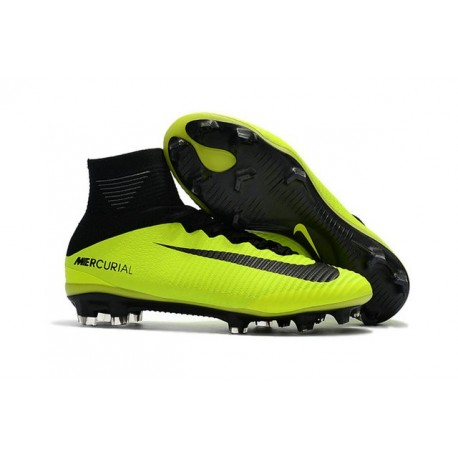 New Soccer Shoes - Shoes Nike Mercurial Superfly V FG Volt Black