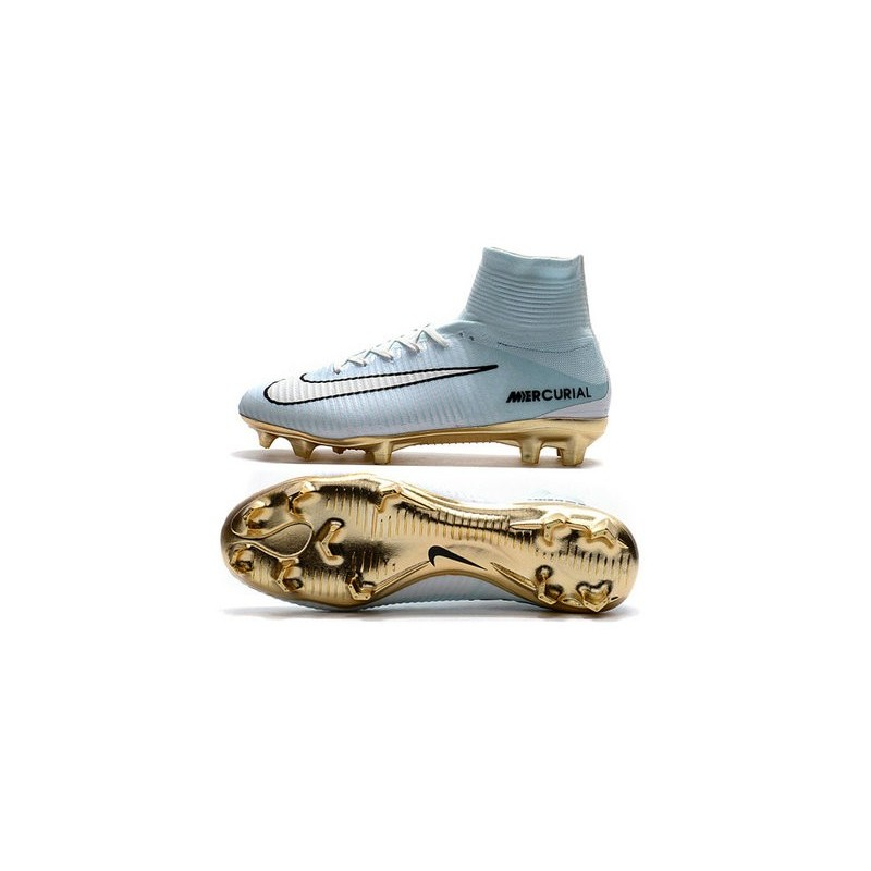 cristiano ronaldo new shoes gold white