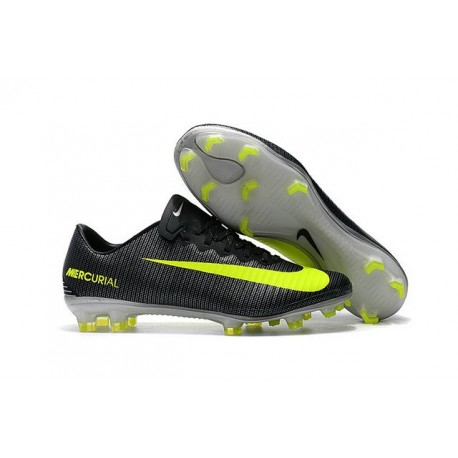 New Football Boots - Nike Mercurial Vapor 11 FG CR7 Volt Black