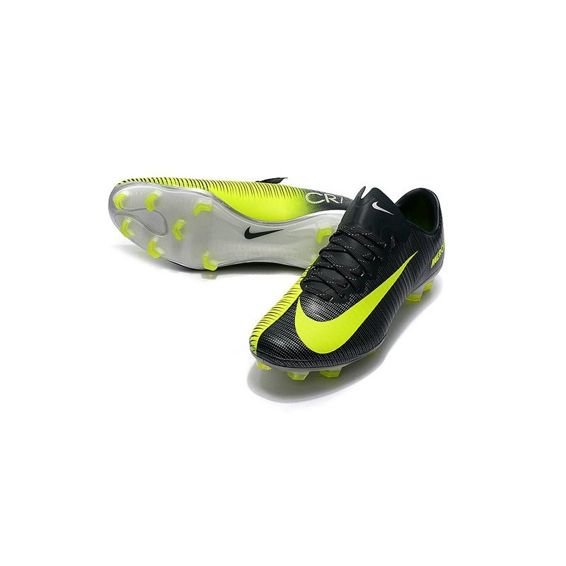 new football boots nike mercurial vapor 11 fg cr7 volt black. Black Bedroom Furniture Sets. Home Design Ideas