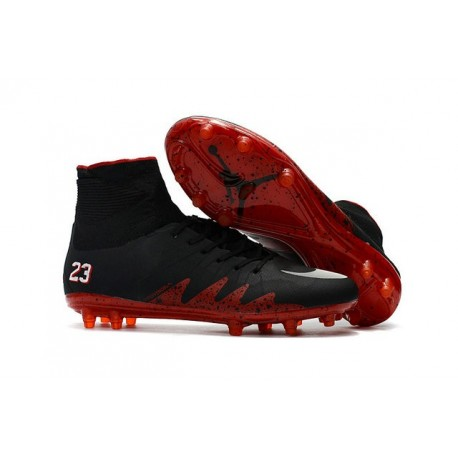 Nike Hypervenom 2 Phantom Men's Nike Football Cleats Jordan Black Red White