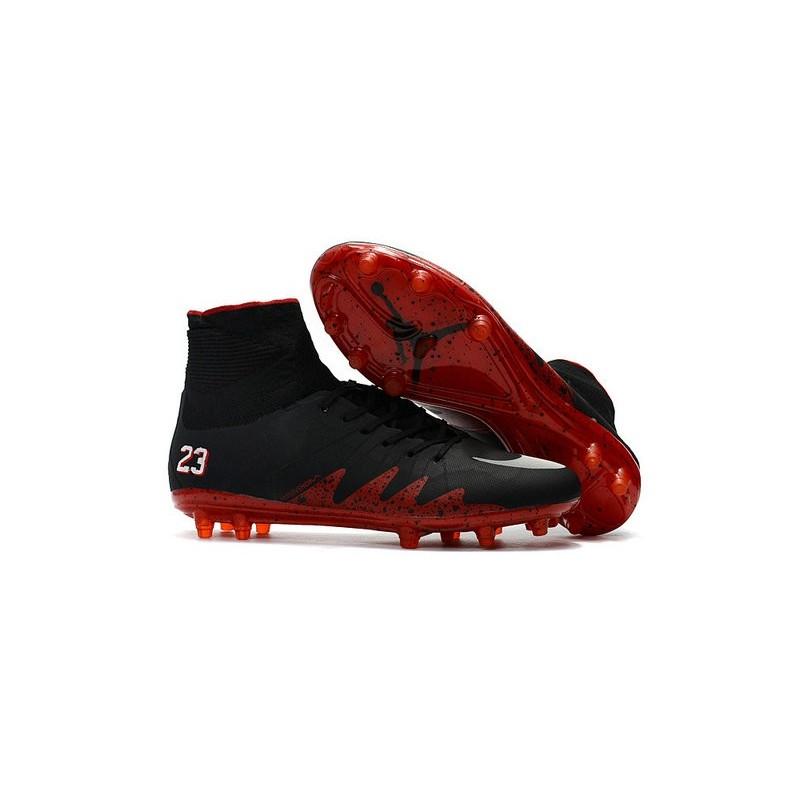 Nike Football Cleats Jordan Black Red White