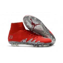 Nike Hypervenom 2 Phantom Men's Nike Football Cleats Red Silver