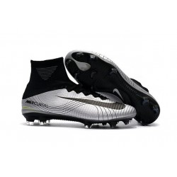New Soccer Shoes - Shoes Nike Mercurial Superfly V FG Argent Noir