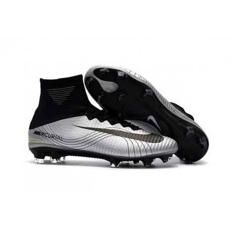 New Soccer Shoes - Shoes Nike Mercurial Superfly V FG Argent Noir