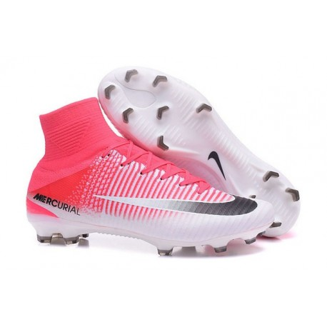 Football Cleats For Men - Nike Mercurial Superfly 5 FG Red White Black