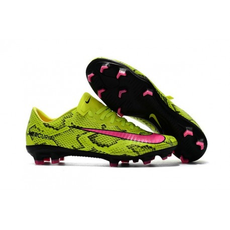 Shoes For Men - Nike Mercurial Vapor 11 FG Soccer Football Yellow Pink