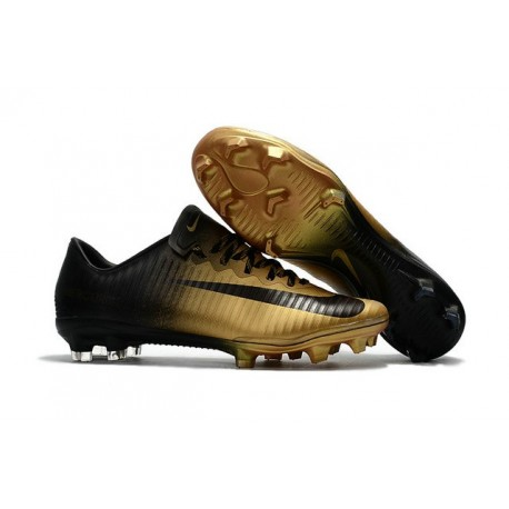 New Football Boots - Nike Mercurial Vapor 11 FG Black Gold