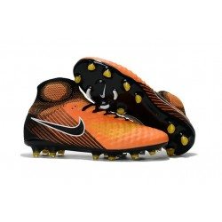 New Nike Magista Obra II FG Soccer Cleats For Men Orange Black