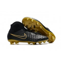 New Nike Magista Obra II FG Soccer Cleats For Men Black Golden