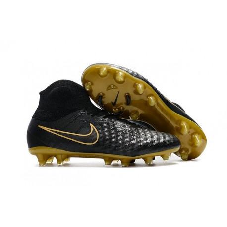 New Nike Magista Obra II FG Soccer Cleats For Men Black Golden