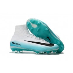 Football Cleats For Men - Nike Mercurial Superfly 5 FG White Blue Black