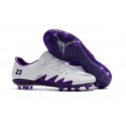 New - Nike Men's Hypervenom Phinish II FG Soccer Boots -White Purple