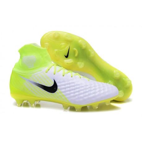 New Nike Magista Obra II FG Soccer Cleats For Men White Yellow