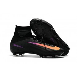 High Top Nike Mercurial Superfly 5 FG Soccer Cleats Black Orange