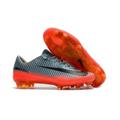 New Football Boots - Nike Mercurial Vapor 11 FG Wolf Grey Orange