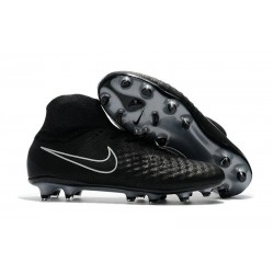 New Nike Magista Obra II FG Soccer Cleats For Men Black Silver